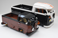 vw split screen single cab pick ups (redfern1950s) Tags: up vw lego cab screen single split pick
