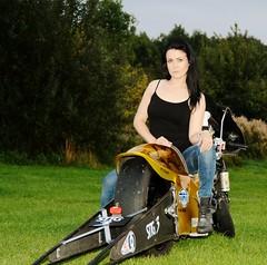 Holly W_7017 (Fast an' Bulbous) Tags: santa woman hot sexy girl bike race speed drag golden pod nikon power boots gimp fast babe chick strip hour motorcycle biker suzuki brunette d7100