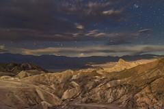 Zabriskie Point by Starlight (snowpeak) Tags: moonrise deathvalley zabriskiepoint starlight nikond800e sigma2435f2art