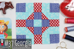gnomeangel-farmers-wife-1930-block-37-georgia-fqs (gnomeangel) Tags: modern quilt quilting patchwork tutorial farmerswife fussycutting gnomeangel fussycuttersclub farmerswife1930