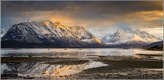 Ullsfjord mountains (Torbjrn Tiller) Tags: sunset norway norge reflextion ullsfjord troms
