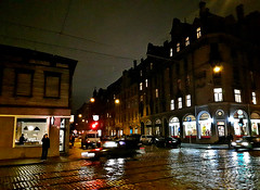 Junction of Terbatas Street and Matisa Street in Riga, Latvia. February 10, 2016 (Vadiroma) Tags: street city winter night buildings europe outdoor capital baltic junction latvia riga 2016 rga latvija cobbledstreet