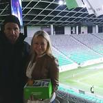 Hostesa na nogometni tekmi Olimpija:Domžale, 28.10.14