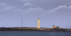 Lighthouse (RWYoung Images) Tags: ocean sea lighthouse water canon landscape bay iceland reykjavik fjord grotta quantumentanglement rwyoung 5d3