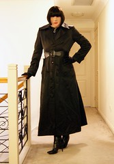 Black Night (14) (Furre Ausse) Tags: black leather belt long dress boots coat skirt blouse gloves satin governess gouvernante