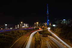 Auckland 2016 IMG_6349.CR2 (Daniel Hischer) Tags: newzealand nightlights auckland skytower nightcrawlers cartrail traffictrail