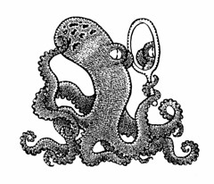 Octopus reflecting (Don Moyer) Tags: ink notebook mirror drawing reflect octopus moyer brushpen donmoyer