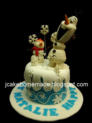 Terrific Olaf Birthday Cake A Photo On Flickriver Funny Birthday Cards Online Alyptdamsfinfo
