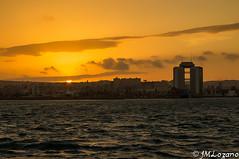Esta es nuestra puesta de sol (josmanmelilla) Tags: espaa sol puerto atardecer mar sony melilla poniente torres