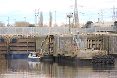 Lock works (North Ports) Tags: water port manchester canal day ship low damage boxing peel salford ports floods banks msc slipped irlam