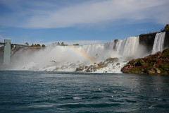 The American Falls (sarah_presh) Tags: usa holiday canada water flow niagarafalls waterfall rainbow october gulls niagara maidofthemist americanfalls 2015 nikond7100