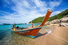 IMG_9031_edited-2 (Lauren :o)) Tags: ocean blue sea sky beach clouds thailand island boat paradise kohtao longtail longtailboat turtleisland desertisland