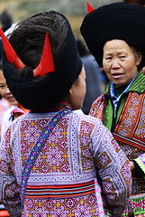 CHINA (BoazImages) Tags: china clothing women colorful asia culture documentary ornaments guizhou miao ethnic minority hmong ethnicity minorities shorthorned boazimages