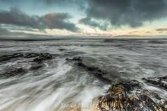 Cool Waters (Steven Peachey) Tags: uk light sunset sea england sky seascape beach water clouds canon evening coast rocks exposure seaham seahambeach northeastcoast northeastengland ef1740mmf4l lee09gnd leefilters canon6d lee06gnd lightroom5 stevenpeachey