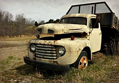 Roadside America (Dave* Seven One) Tags: rot ford abandoned broken rotting field grass dead rust rusty overlay used forgotten roadside roadsideamerica f5 fordtruck workhorse rotted fomoco worktruck farmtruck picmonkey