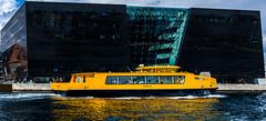 Bus (channel one) Tags: sun black bus copenhagen spring harbour library diamond
