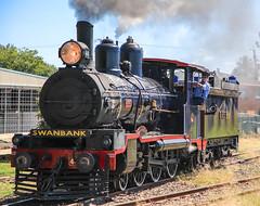 Australian class PB15 locomotive numbered 448 at Bundamba Ipswich. (Photos by Lance) Tags: railroad train locomotive steamtrain steamlocomotive queenslandrail railfans queenslandpioneersteamrailway