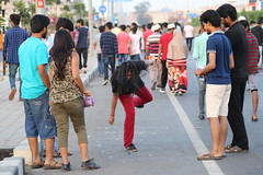 #BackToChildhood (Rahul Gaywala) Tags: street family boy people dog pet game art girl childhood cat painting fun bicycling cycling sketch chalk drawing walk board crowd innocent social gathering uturn hover surat sketing