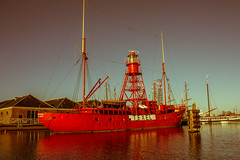 Texel Lightship (Monika Draaisma (on&off)) Tags: holland water netherlands boat ship waterfront outdoor vehicle willems lightship denhelder lichtschip museumschip museumship willemsoord museumhaven texel10