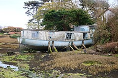 Unloved Houseboat (tonydickins) Tags: house building home boat floating houseboat vessel aground afloat unloved