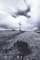 Cross (NIOphoto.) Tags: longexposure art monochrome clouds landscape schweiz switzerland spring mood cross artistic jura chasseral