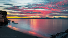 Happy Earth Day 2016 (Brendinni) Tags: sunset sky beach water colors clouds landscape washington movement rocks westseattle pnw stacked earthday earthday2016