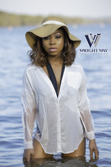 Yaminah (Wright Way Photography) Tags: beach water beauty river model arkansas blackmodel canon5dmark2