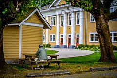 Alone time (Images by Christie  Happy Clicks for 2016!) Tags: wedding canada yellow person dance alone bc historic solo era historical meetings fortlangley communityhall fortlangleycommunityhall vancouverphotowalkclub