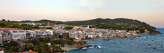 CALELLA DE PALAFRUGELL (Miquel Fabr) Tags: houses sunset sea espaa costa color tree beach water forest marina canon landscape boats atardecer 50mm coast mar spain agua rocks colorful europa europe waves arboles village ngc pueblo eu bluesky playa paisaje 100v10f panoramic catalonia belfry tiles bosque panoramica casas barcas olas costabrava smalltown catalua rocas tejados campanario roofing tejas redroof cieloazul fishingport whitehouses calelladepalafrugell casasblancas puertopesquero bajoampurdan canoneos1dsmarkiii tejadosrojos healinglightofthespirit pueblopequeo laquintaessenza miquelfabre