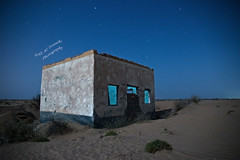 Once upon a time! (Ali:18 ( )) Tags: old abandoned night stars sand desert dune memories nostalgia moonlight past saudiarabia isolated sabia  jazan         jizan
