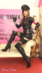 Das Boots (jessicajane9) Tags: stockings leather tv uniform boots cd femme crossdressing tgirl transgender lgbt transvestite trans fancydress