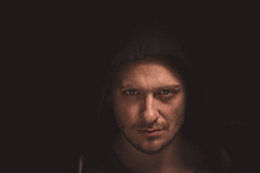 In The Dark (njumjum) Tags: portrait people man face dark photo starwars model moody expression creative evil lord angry hood mad powerful darkside sith clamshell hooded bech jumlin niklasjumlin joakimbech jbech njumjum njumlin