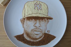 dj premier close up (pedalstrike) Tags: nyc brooklyn cheesecake hiphop foodart djpremier preem pedalstrike pedalstrikecom