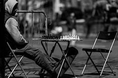 Strengthen My Mind (MarkL87) Tags: nyc newyorkcity blackandwhite bw game bokeh manhattan chess