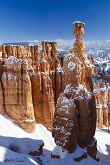 Hammer Time (Alfred J. Lockwood Photography) Tags: morning winter snow nature landscape utah nationalpark sandstone brycecanyon hoodoos rockformation thorshammer brycecanyonnationalpark alfredjlockwood