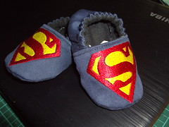 superman baby soft shoes (delsdesignz) Tags: baby shoes soft handmade embroidered