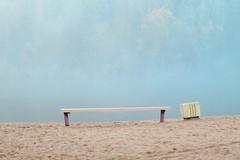 Loneliness (Darya_Ezerskaya) Tags: beach forest bench spring gloom