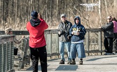 Drones... (Wes Iversen) Tags: people men women brighton michigan fences photographers cameras grasses milford benches boardwalks odc drones kensingtonmetropark ourdailychallenge tamron150600mm