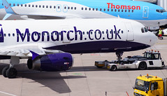 Monarch A321-211 G-OZBF. 16/04/16. (Cameron Gaines) Tags: 2002 2 sun snow man weather june cn germany manchester was stand airport ramp europe aircraft aviation hamburg steps drew first ground terminal monarch thomson airbus april agent remote tug airlines hainan plough boarding 20th agents 6th tui easyjet 201 gse hydraulic flew 737800 eads handling finkenwerder 1753 egcc delivered hawarden greybull tawo avgeek swissport a321211 gozbf gtaw planemad manairport davzb monarchcouk gtawo aviationlovers monarchairlinesairbusa321211gozbfbeingtowedontostand201atmanchesterairportstand201isnotusedveryoftenduringthedaytime itstheonlycontactstandatterminal2withoutanairbridge flymonarchcouk