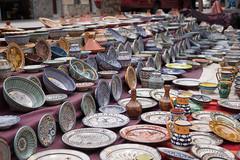 A lotta potta (Keith Williamson) Tags: colour market outdoor pots moroccan
