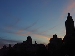 Skylines (ZoK) Tags: newyorkcity sky urban silhouette clouds buildings cityscape manhattan centralparkwest