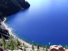 Pacific Northwest2015-38 (Felson.) Tags: trip travel blue trees usa lake holiday water alberi oregon lago volcano boat heaven barca honeymoon blu crater pacificnorthwest craterlake acqua pnw viaggio vacanza vulcano cascadia cratere