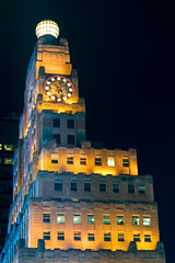 Paramount Hotel Time Square New York City (peter-amador) Tags: new york city tower clock architecture night square hotel photo time paramount