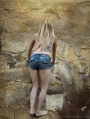 Houses of the Holy (Keltron - Thanks for 7 Million Views!) Tags: jordan climbing blonde quest californiagirls cutegirl hieroglyphics longlegs carmelbythesea hotgirl cutoffs
