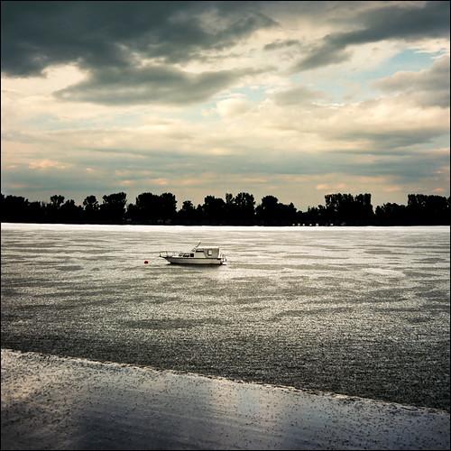 Rainy day on Danube