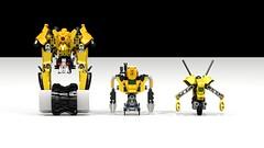 3 Types of Watrol (Front) (Folisk) Tags: road wheel digital kill factory lego pov designer steam system technic hero roller bionicle moc ldd watroi hurmidik