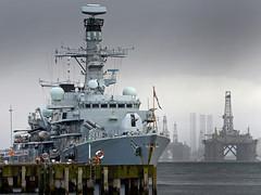 HMS Sutherland alongside Admiralty Pier, Invergordon, Scotland. (Royal Navy Media Archive) Tags: uk argyll remembrance sutherland invergordon faslane type23frigate hmssutherland surfaceship newsevent jutland100