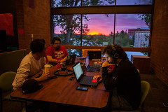 Studying with the Best View (imbaoroh) Tags: pink school light sunset summer people test college window students yellow dead marketing washington spring university state pacific northwest finals wsu pullman pacificnorthwest week laptops pnw studying cougars cougs finalsweek deadweek washingtonstateuniversity gocougs