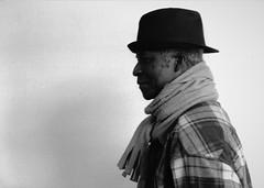 il profilo (boia83) Tags: camera portrait film 35mm nikon stranger uomo agfa ritratto f4 cappello oscura pellicola profilo analogico