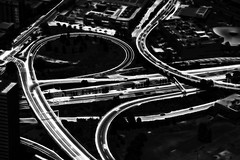 My city (246) (kruser1947 (all killer no filler)) Tags: bw monochrome blackwhite melbourne birdseyeview